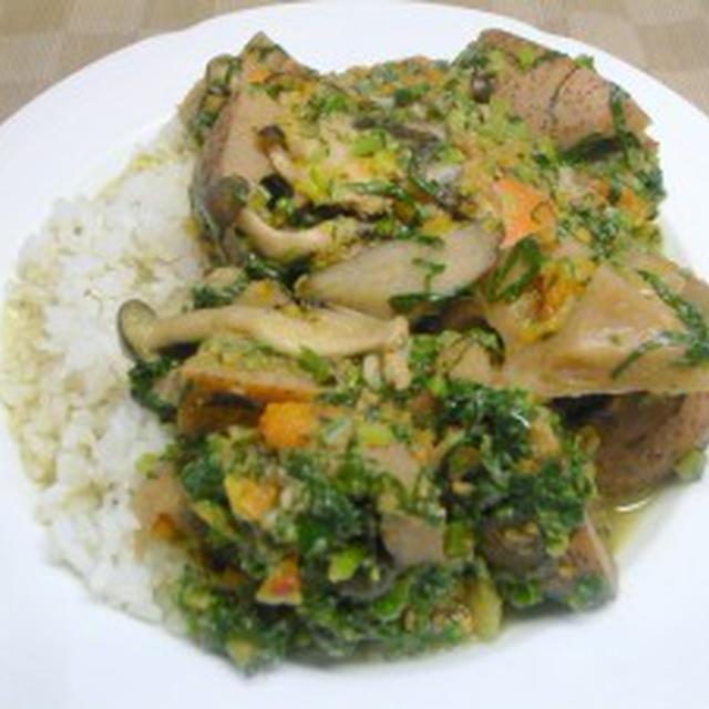 冬の根菜グリーンカレー