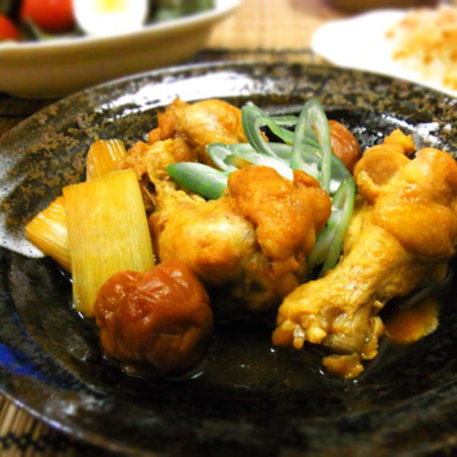 鶏手羽元の梅すっぱ煮♪