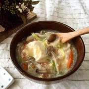 しょうがであったか♪お豆腐と卵のふわとろスープ*簡単*節約*ヘルシー