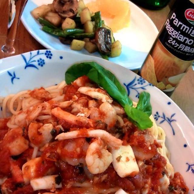 シーフード・マリナーラ・スパゲッティ ~ Seafood Marinara