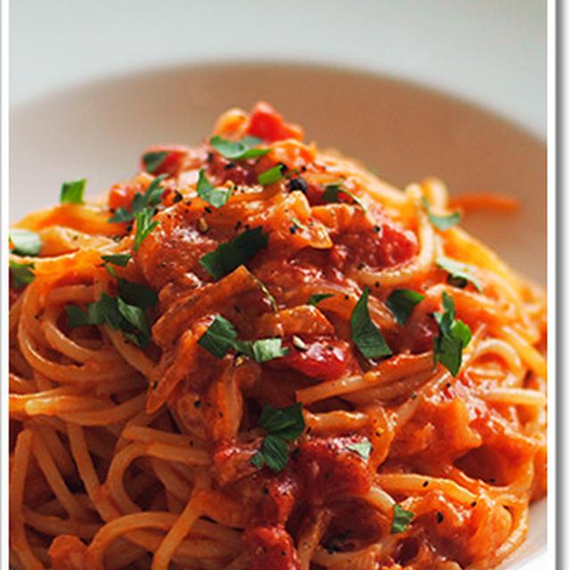アマトリチャーナのスパゲッティ