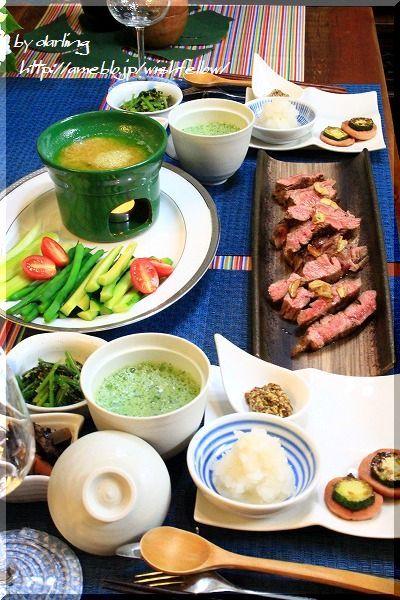 ◆ステーキでおうちごはん♪~ゆるやか糖質制限中♪