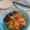 【鮭とナスの南蛮漬け】鯵の南蛮漬けも美味しいけど、生鮭もお勧め。