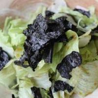 レタスたっぷり~♡のりたっぷり~♡食物繊維いっぱいなサラダ