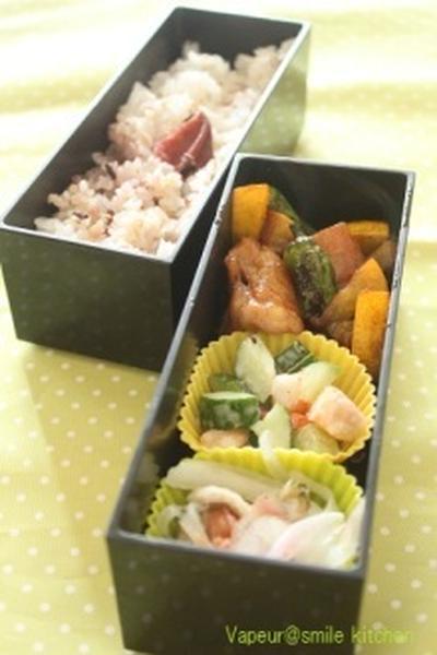 今日のお弁当~鶏肉としし唐の炒め物~