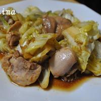 キャベツと鶏肉と中華炒め