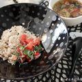 愛知のトマトでおうちカフェご飯(5)~青じそ香るトマトしらす丼。