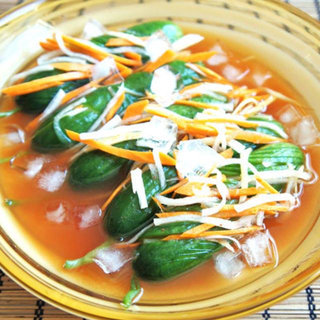 夏野菜で作るオイキムチ風きゅうりの漬物