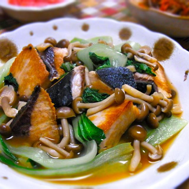 ぶりと青梗菜の中華風炒め煮★