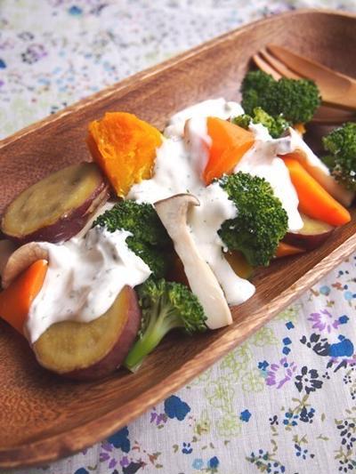 野菜を食べる!温根菜のヨーグルトクリームサラダ