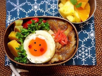 >我が家の生姜焼きは甘めのタレでいただきます。今日は生姜焼き弁当。 by @mayuさん