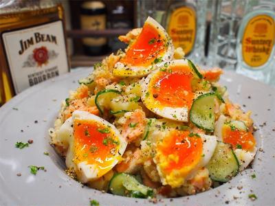 【レシピ】焼き鮭が美味しい♡スパイシーポテトサラダ♡