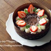 チョコレートケーキのデコレーション