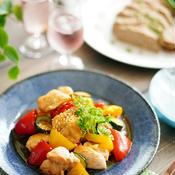 簡単!夏野菜のトムヤムチキン