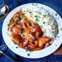 ♡簡単*節約♡鶏むね肉deハッシュドチキン♡【#フライパン#時短#トマト缶】