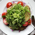 \簡単/茄子とトマトのパクチーサラダ