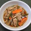 豚肉と舞茸他の甘辛煮、カツオの刺身