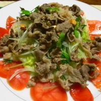 牛肉のサラダ GABANスパイスドレッシングで