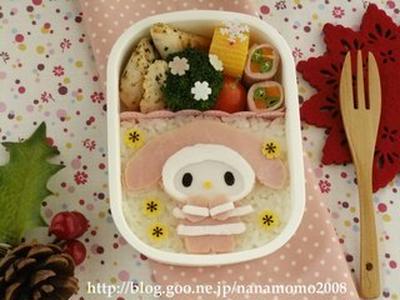 マイメロディの冬のお出かけのお弁当 ♪ (キャラ弁)