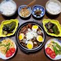 【家ごはん/献立】 名古屋 どて煮 [レシピ] 激辛竹の子ナムル / 夏野菜の焼きびたし / どて煮 by こぶたさん