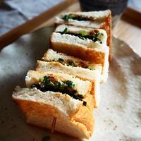 和風クリームチーズ海苔サンド