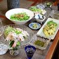 ◆冷しゃぶサラダと焼きナスでおうちごはん~ゆるやか糖質制限♪