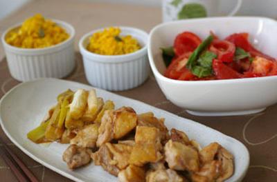 鳥肉と長ねぎのさっぱり煮