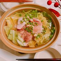 白菜でごちそう♡白菜と鶏肉の旨み鍋