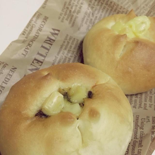 バジルとちーずのプチパン。