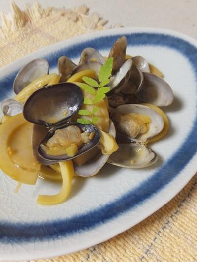 筍とあさりの炒め煮