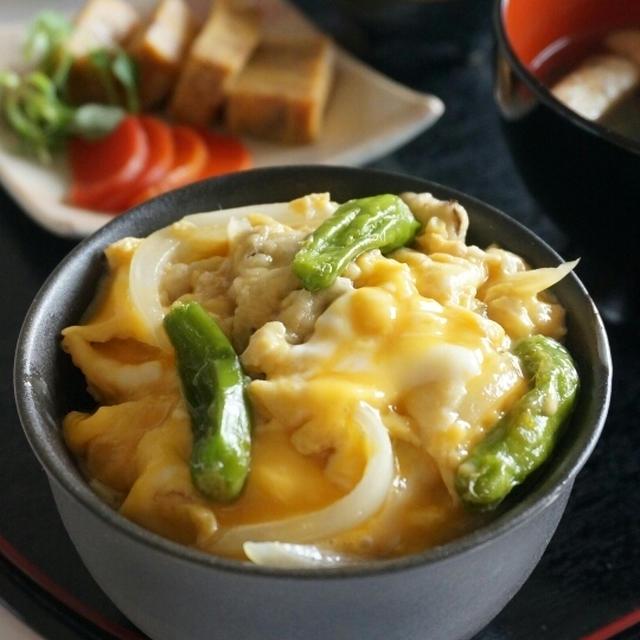 舞茸の天ぷらの、玉子とじ丼