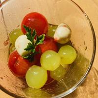 ミニトマトと葡萄のハチミツマリネ
