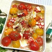 くらしのアンテナで掲載【『ミニトマトとタコの減塩マリネ【作り置き・常備菜】』】