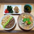 【家ごはん/献立】 3色丼♪ [レシピ] なめ茸/ 2色丼/ 冬瓜汁