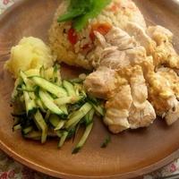 雑穀米でシンガポールライス in プチトマト