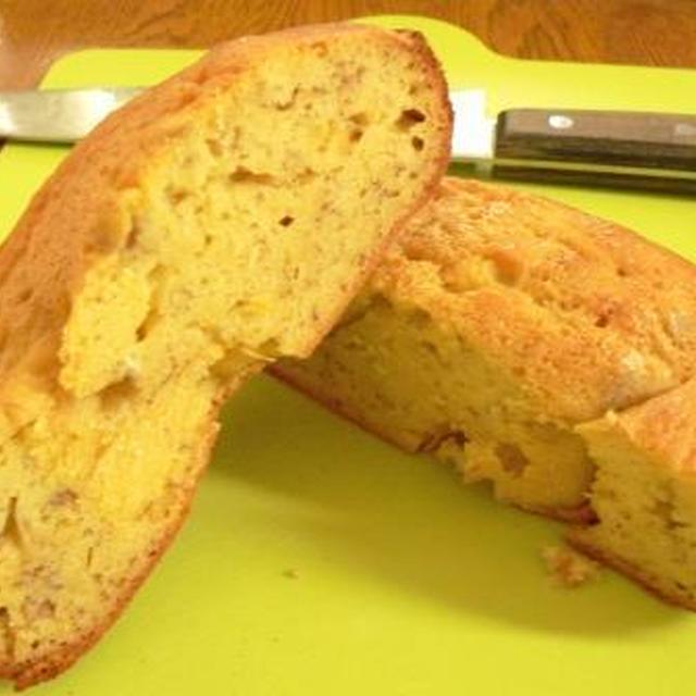 ホームベーカリーで、米粉バナナケーキ♪