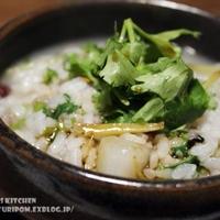 【生姜昆布水の温活鍋 ~ 〆は生姜たっぷりパクチー雑炊。】