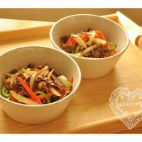 * ハウス食品・旨炒めペースト「牛肉と彩り野菜の炒めもの」 *