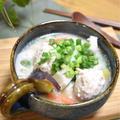 【寒い日はこれ!肉だんごと根菜の豆乳味噌スープ】#食べるおかずスープ#具だくさんスープ#ヘルシー#栄養満点スープ