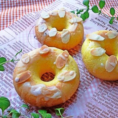 レモンの香りの焼きドーナツ