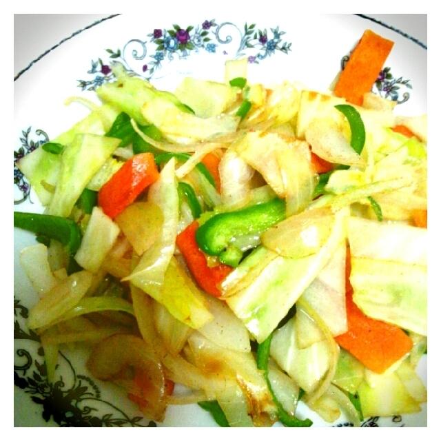 野菜炒めといりたまご