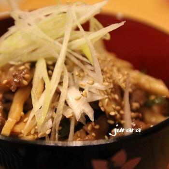 xo醤焼きのたれで「酢」タミナ丼♪
