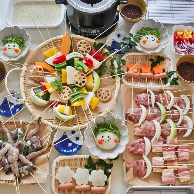 揚げたてサクサク*卓上で揚げながら食べるおうち串カツパーティー