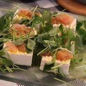 ねり梅と辛子明太子のお豆腐サラダ