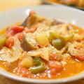 【レシピ】2種類の鶏肉で作る「手羽元と砂肝の具沢山トマト煮」