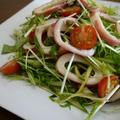 ボイルイカと水菜のサラダ♪わさび風味♪