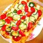 カリフラワー生地のピザ【低糖質ピザ】