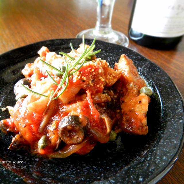 豚ロースと余り野菜のトマト煮