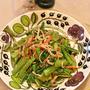 10月21日 日曜日 パンプキンシードオイルで小松菜とカニかまの和え物