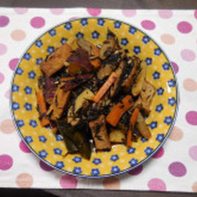 ひじきと根菜の煮物